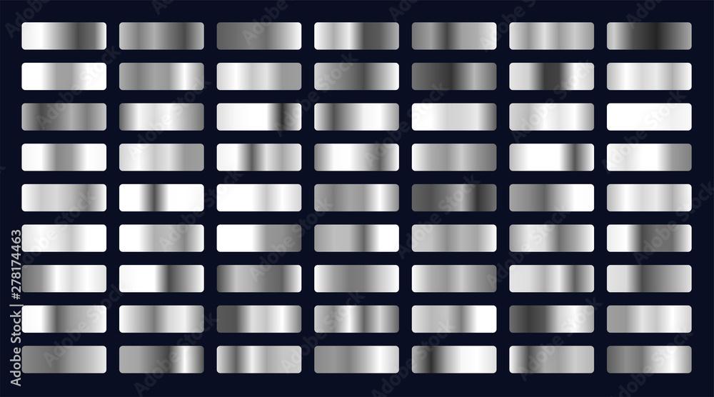 Fototapeta big set of silver gradients
