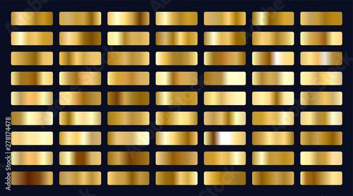 Fotografie, Obraz big set of metallic gold gradients