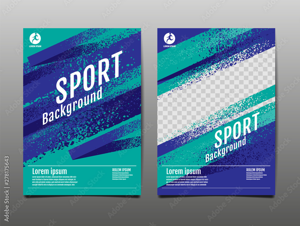Fototapety, obrazy: Layout template Design, Sport Background, Dynamic Poster, Brush Speed Banner, Vector Illustration.