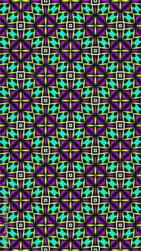 Foto auf AluDibond Boho-Stil Ornate geometric pattern and abstract colored background