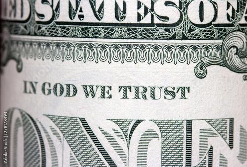 Fotografie, Obraz  Close-up view of dollar bill