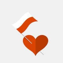 Heart Icon With Polish Flag