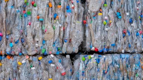 Bulk plastic waste in the waste separation plant Tapéta, Fotótapéta