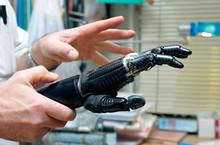 Podiatrist's Hands Holding A New Artificial Limb
