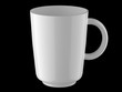White tall mug on a black background 3d rendering