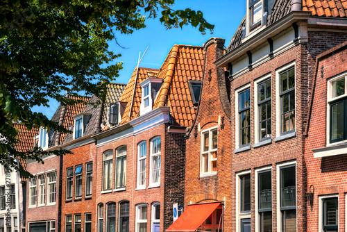 Photo  Beautiful facades by the harbor in Hoorn, Netherlands