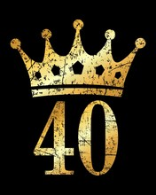 Crown Number 40 (Ancient Gold)