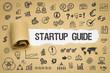 Leinwandbild Motiv Startup Guide