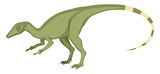 Fototapeta Dinusie - Compsognathus, illustration, vector on white background.