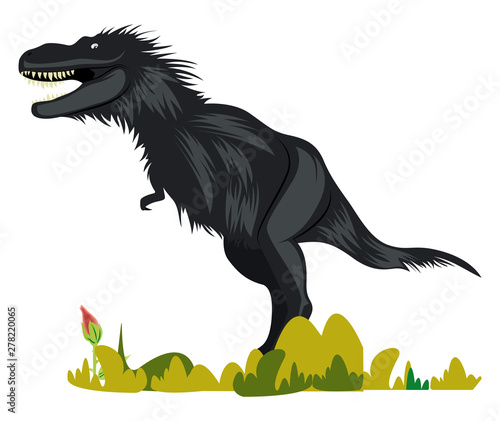 Photo Gorgosaurus, illustration, vector on white background.