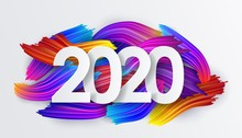 2020 New Year Background Of Co...