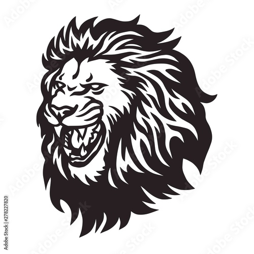 Fototapety, obrazy: Lion Head Roaring Logo Vector Icon