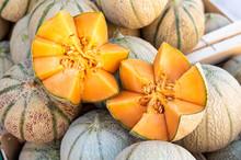 Cavaillon Melon On The Street Market Provencal, France