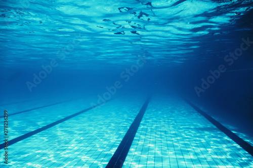 Underwater Empty Swimming Pool Wallpaper Mural