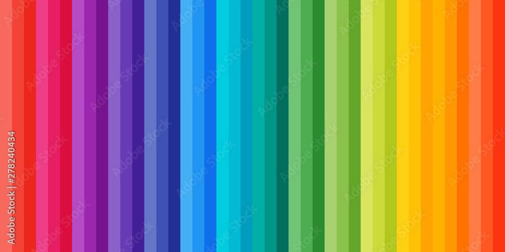 Fototapety, obrazy: Rainbow strip pattern. Colorful kids background.
