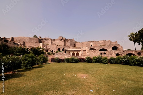 Photo  The Golconda Fort in Hyderabad is an ancient seat of the royal rulers of Hyderab