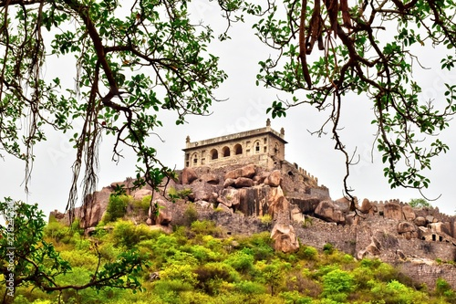 The Golconda Fort in Hyderabad is an ancient seat of the royal rulers of Hyderab Wallpaper Mural
