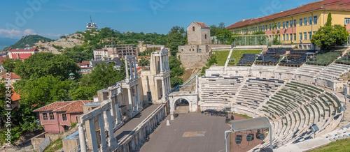 Fotografie, Obraz The ruins of the Roman theatre of Plovdiv, Bulgaria