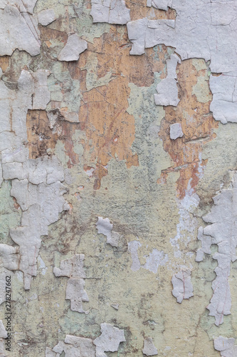 Spoed Foto op Canvas Oude vuile getextureerde muur Old Weathered White Painted Peeling Wall Texture