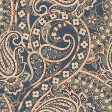 Seamless Paisley Pattern In In...