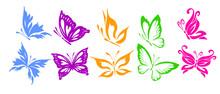 A Set Of Logo Butterflies. A B...