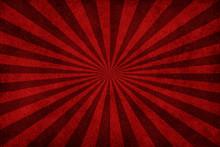 Red Sunburst Grunge Background
