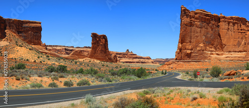 Fototapeta Arches national park scenic by way panoramic view obraz