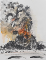 Fire at the Notre Dame Cath...