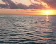 A sunset as seen from the sea in Tonga