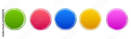 Photo Set circle button – stock vector