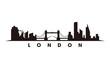 London skyline and landmarks silhouette vector