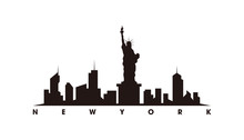 New York Skyline And Landmarks...