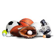 Sports Equipment For All Seasons Isolated on White Background