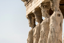 Detail Of Erechtheion Temple, Athens, Greece
