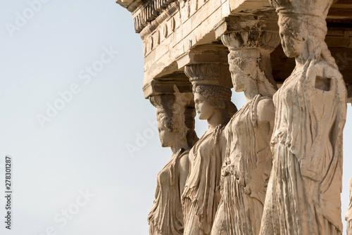 Foto op Plexiglas Historisch mon. Detail of the Erechtheion temple