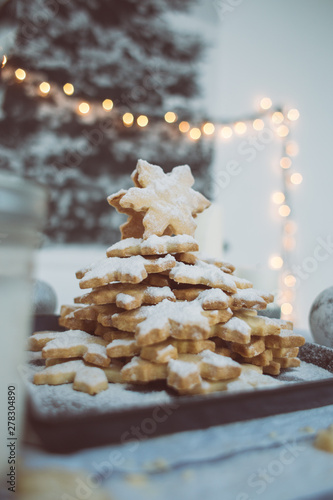 White Christmas - Yummy cookie tower