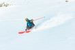 Male skier on fresh powder snow