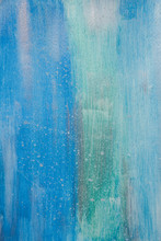 Watercolour Painting Of Blue A...