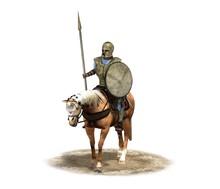 3d Render, Rider, Warrior On Horseback, Illustration