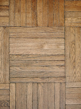 Textured Parquet Floor In Abst...