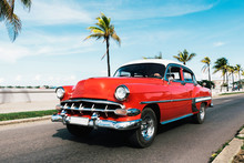 Vintage Red Shiny Car Riding O...