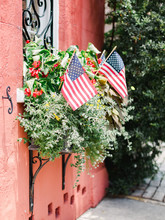 Window Boxes With American Fla...