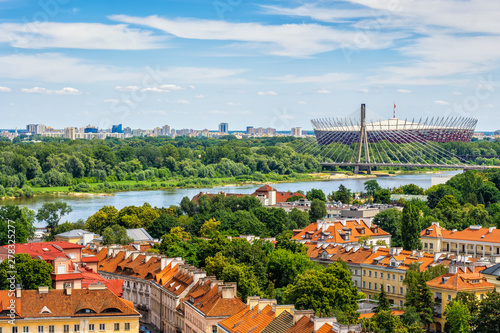 Obraz Warsaw Cityscape Along Vistula River - fototapety do salonu