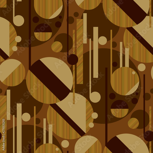 Sophisticated geometric pattern with wood texture Tableau sur Toile