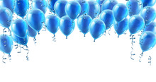 A Blue Party Balloons Isolated...
