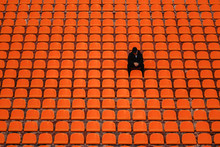Lonely Man On The Empty Stadiu...