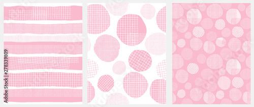 Hand Drawn Childish Style Geometric Vector Patterns Canvas Print