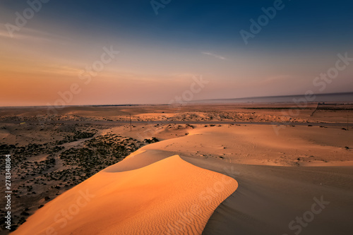 Beautiful Sunrise in Dammam Saudi Arabia Desert Canvas Print