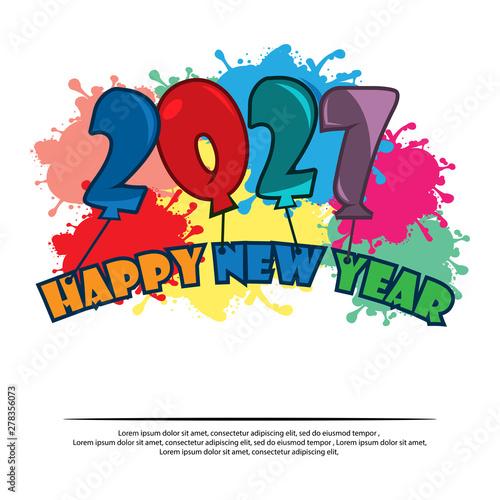 Happy New Year Flat Design 73