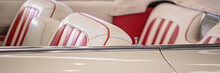 Close Up Of Seats Of Custom Classic Cadillac